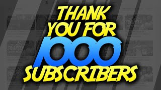THANK YOU SO MUCH! *1000SUBS LIVESTREAM*