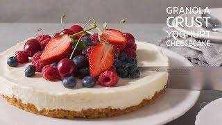 Granola Crust Yoghurt Cheesecake
