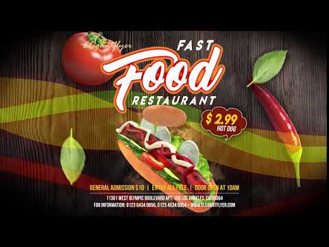 Fast Food Restaurant After Effects Template