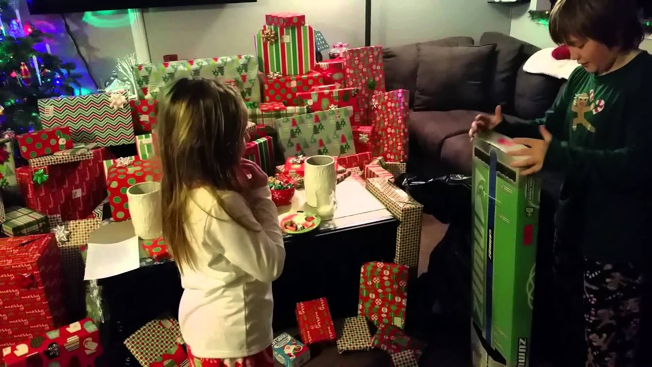 Smith Family Fun House Christmas morning 2014 part1 - YouTube