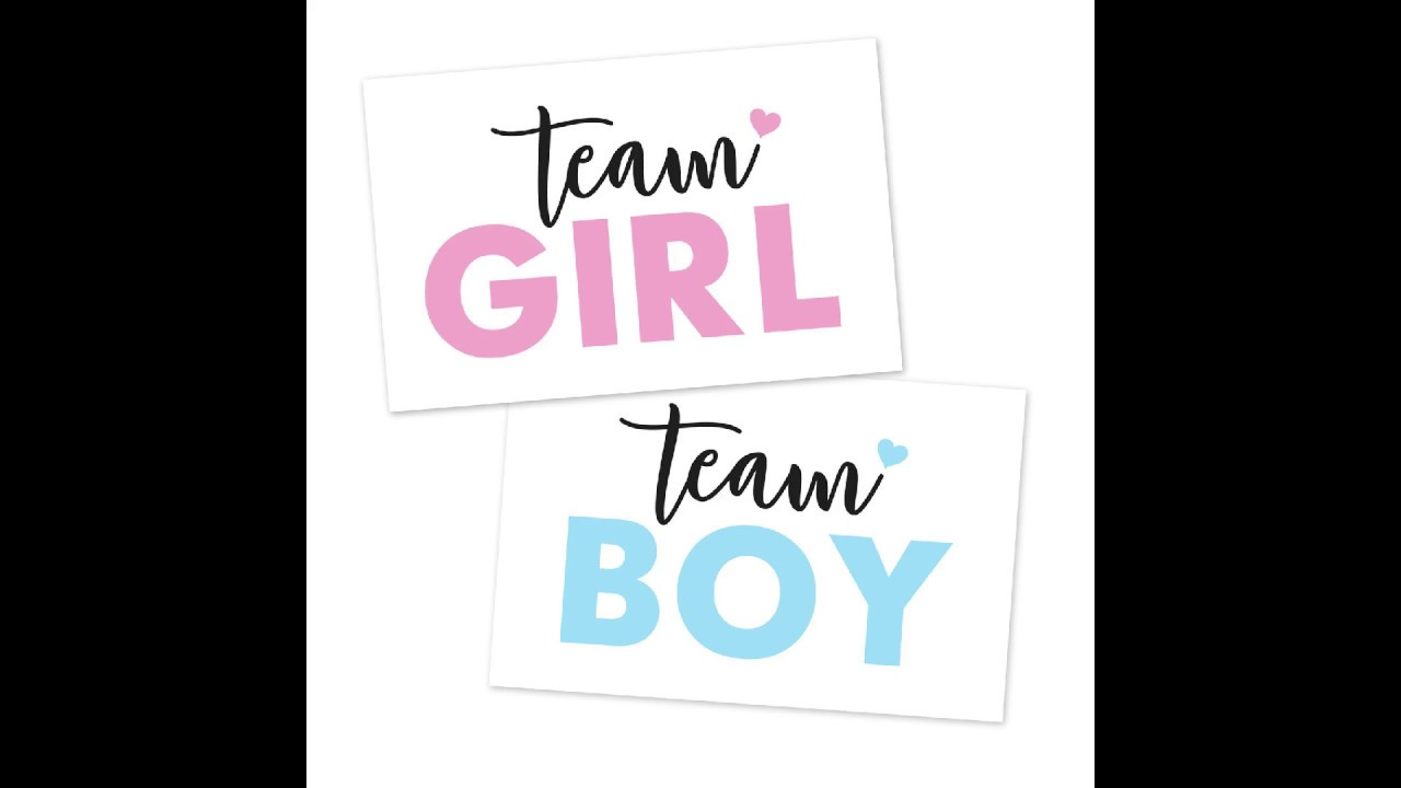 """24/"""" Gender Reveal CONFETTI SKY baby girl SHE pink party popper cannon Pop See"""