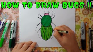 How to draw Bugs Learning to Color and Draw Insects