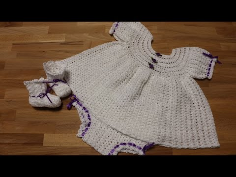 5e7d02cab Vestido Crochet para Bebe de 0 a 3 meses - YouTube