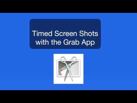 Mac Tutorial: Use the Grab App to take timed Screen Captures!