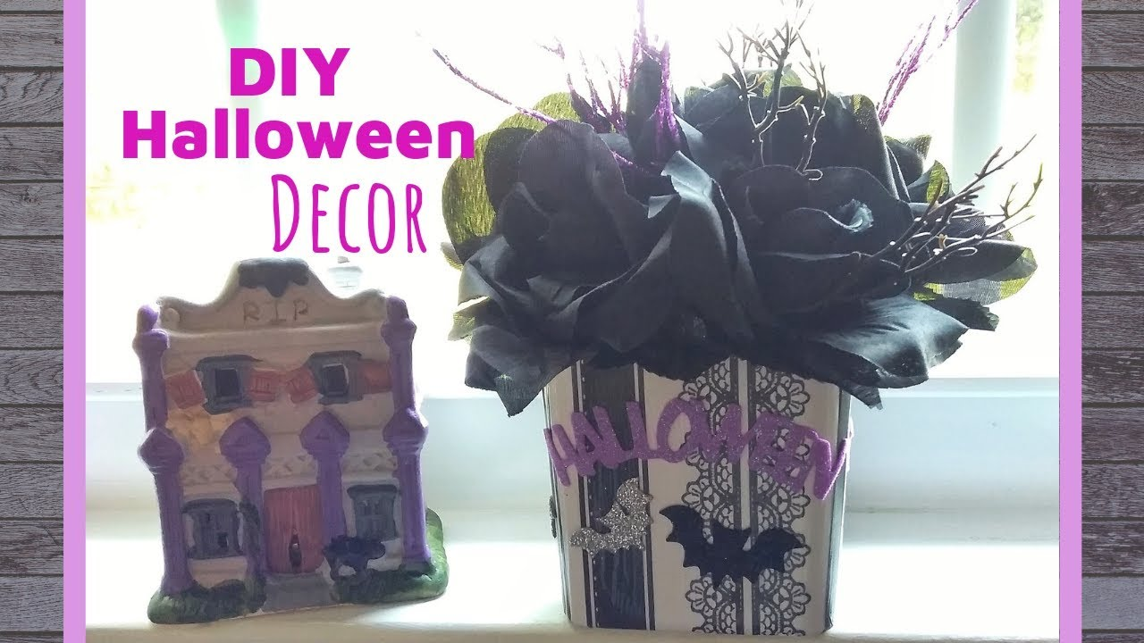 Dollar Tree Diy Halloween Decor Spooky Meets Sparkly Youtube