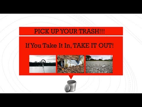 Pick up your trash!