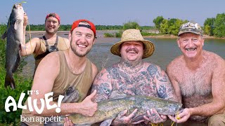 Brad and Matty Matheson Go Noodling for Catfish Part 1 | It