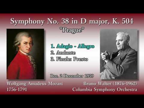 Mozart: Symphony No. 38 (Prague), Walter & ColumbiaSO (1959) モーツァルト 交響曲第38番「プラハ」ワルター
