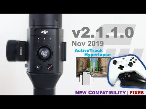 DJI Ronin-S Firmware V2.1.1.0   XBox & PS4 🎮   ActiveTrack Hyperlapse   Portrait Mode