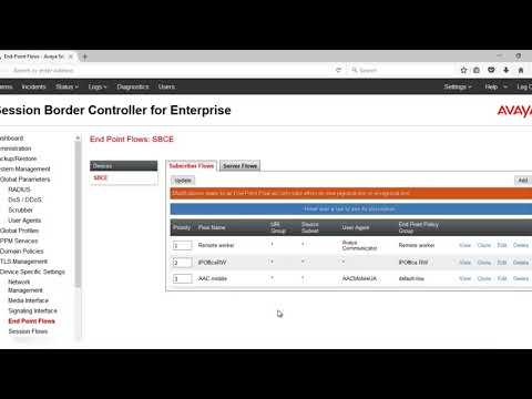 How to configure user agent in Avaya Aura Session Border Controller for Enterprise