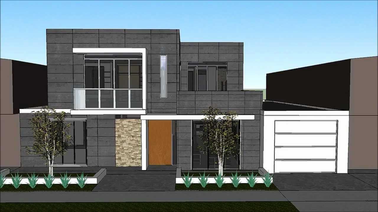 Planos gratis casa moderna minimalista parte 1 youtube for Casa minimalista roja