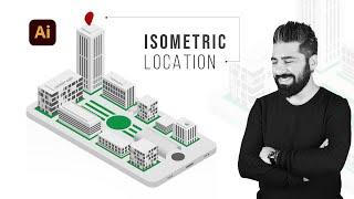 Adobe illustrator Dersleri  3D Isometric Design