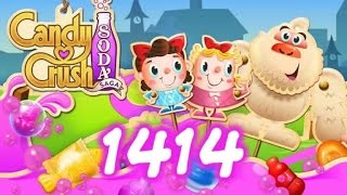 Candy Crush Soda Saga Level 1414 - 11 Moves Left - No Boosters