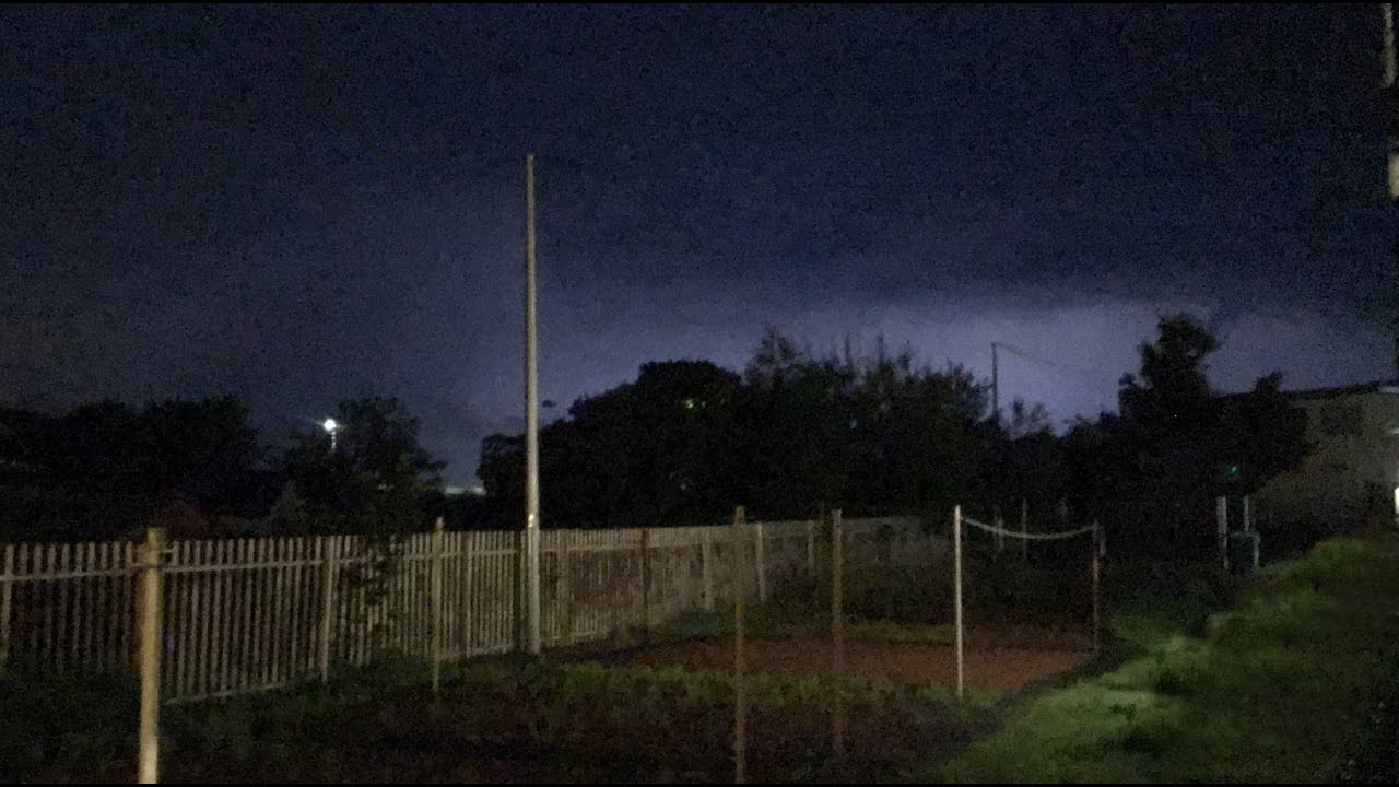 INTENSE LIGHTNING STORM IN AIRDRIE, SCOTLAND - 12th AUGUST 2020