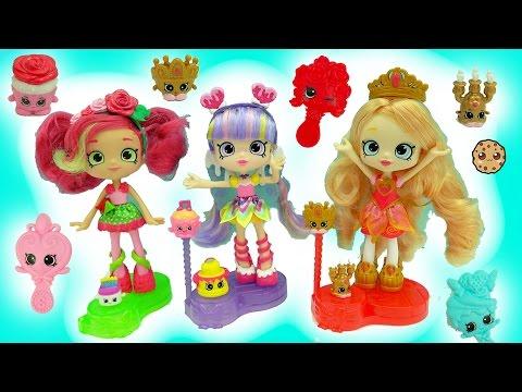 Shopkins Season 7 Shoppies Tiara Sparkles, Rainbow Kate, Rosie Bloom Join The Party Dolls