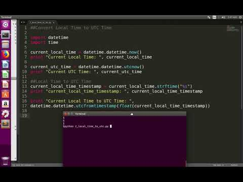 Python Convert Current Local Time to UTC Time - YouTube