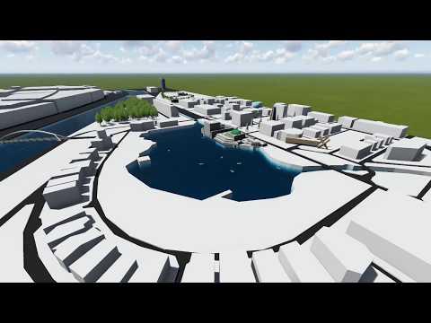 Lago de España y canal - Sevilla Expo 92 Recreación virtual