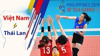 Final match Việt Nam vs Thái Lan highlights   Volleyball 2019 SeaGame 30