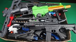 Big Box Full of Realistic and Colorful Military Toy Guns !!