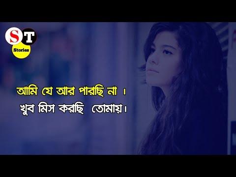 আমি যে আর পারছি না । খুব মিস করছি  তোমায়।  Heart touching bangla shayari-ST Stories