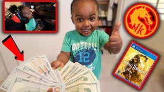 MY 3 YEAR OLD SON BET ME $1000 HE COULD WIN A MATCH IN MORTAL KOMBAT 11 .  ( funniest video ever )
