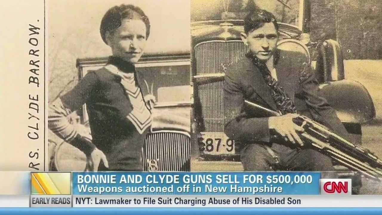 Bonnie and Clyde's guns go for anything but a steal at auction