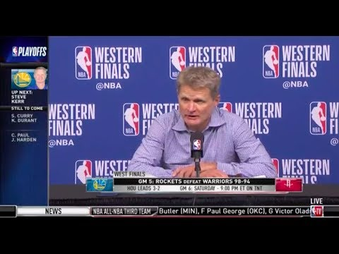 Coach Steve Kerr | Game 5 Western Conference Finals Press Conference
