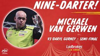 NINE-DARTER! Michael van Gerwen v Daryl Gurney - 2020 UK Open