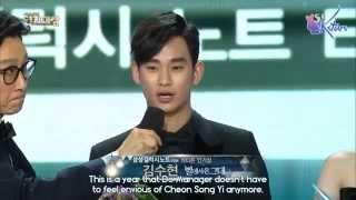 Video [ENGSUB] 141231 SBS Awards Festival - Kim Soo Hyun's Cuts download MP3, 3GP, MP4, WEBM, AVI, FLV Maret 2018