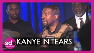 Kanye West Breaks Down In Tears At First Presidential Rally