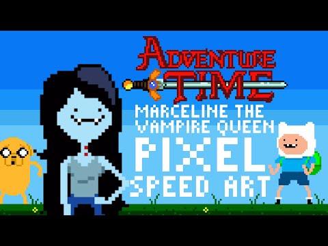Adventure Time Marceline the Vampire Queen Pixel Speed Art by PXLFLX