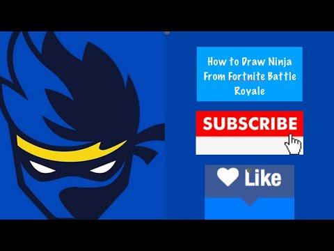 How To Draw Ninja Logo From Fortnite