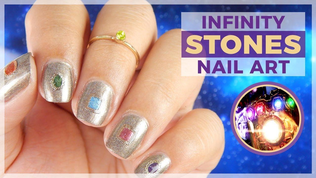 Infinity Gauntlet From Avengers Infinity War Nail Art Design Youtube