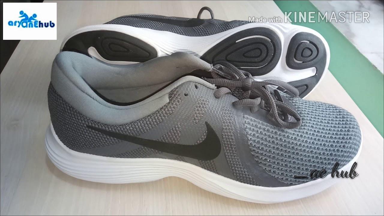 f666a9c7cf82 Nike Men Grey REVOLUTION 4 running shoes - YouTube