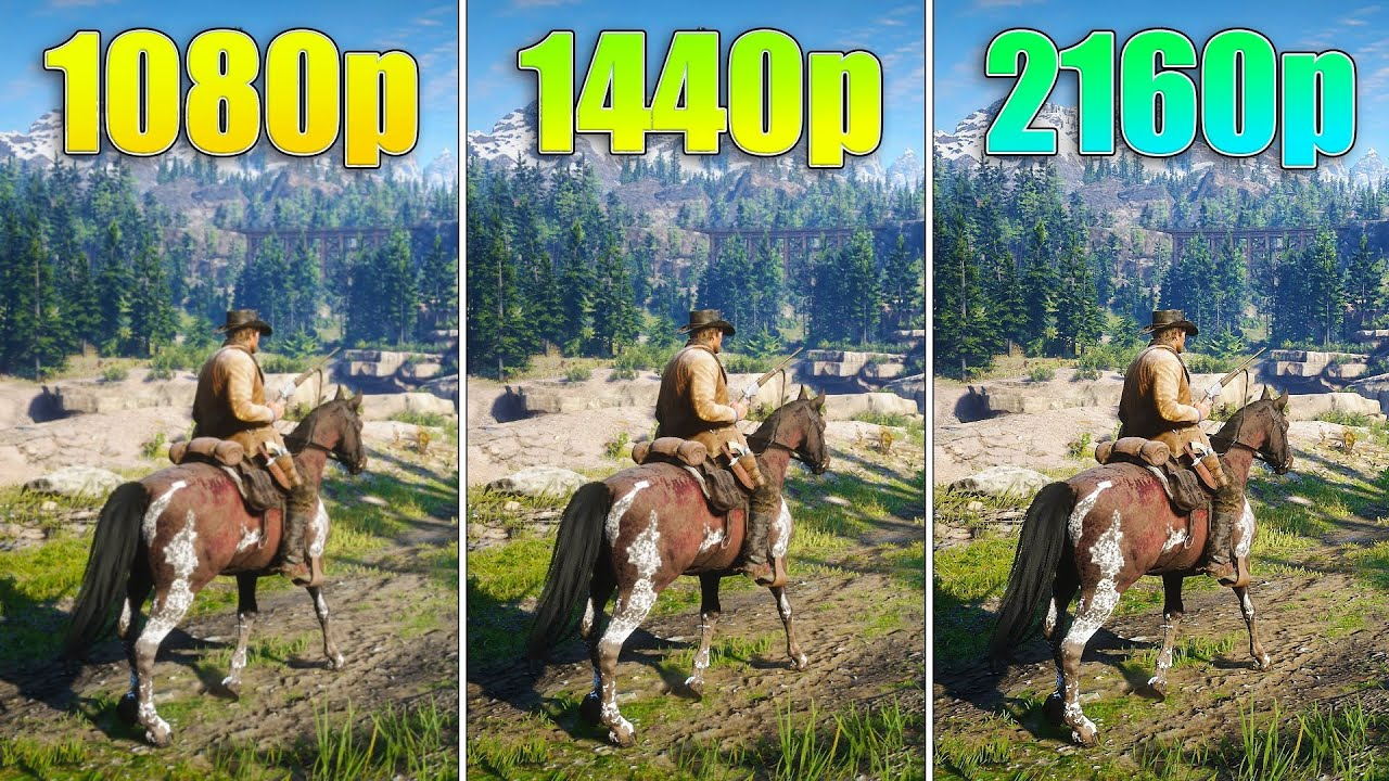 1080p vs 1440p vs 2160p Performance Test - TV Explained: 4K, 8K, 16K