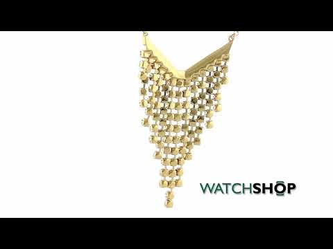 Ted Baker Jewellery Ladies' PVD Gold plated Odessa Ombre Crystal Waterfall Necklace (TBJ984-02-35)