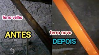Reciclagem de ferro para reforçar o telhado sai bem mais barato