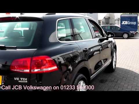 2013 Volkswagen Touareg SE 3l Deep Black Pearl Effect FR13BXO for sale at JCB VW Ashford