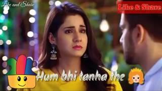 Tum bhi tanha the hum bhi tanha the // whatsapp lyrics status video//