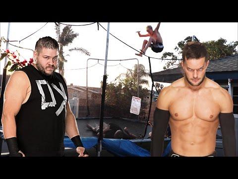 WWE - Kevin Owens vs Finn Balor (Trampoline)