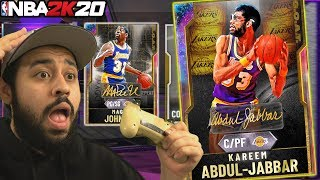*GOAT* GALAXY OPAL MAGIC JOHNSON AND KAREEM SHOWTIME PACKS IN NBA 2K20 MYTEAM PACK OPENING
