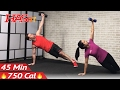 45 Minute HIIT Home Workout with Weights - Full Body HIIT Workout for Fat Loss & Strength Dumbbell