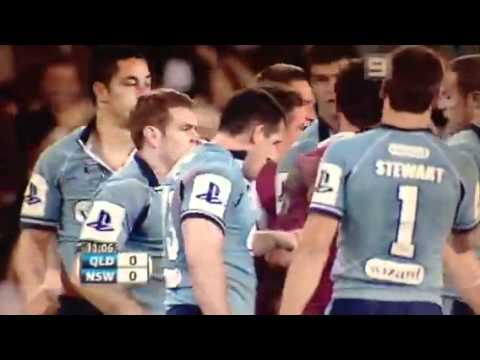 Paul Gallen High Tackle & Fight State of Origin Game 3 2007