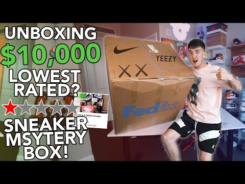 Unboxing A $10,000.00 Lowest Rated Sneaker Mystery Box!