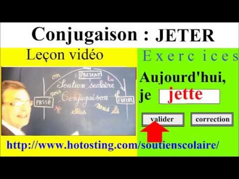 Conjugaison Ce1 Ce2 Verbe Jeter 1er Groupe Imparfait Present Futur Youtube