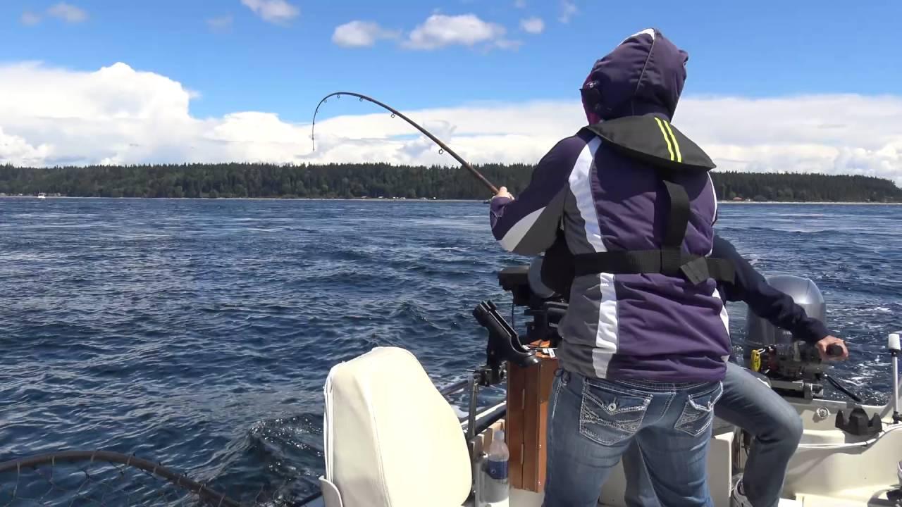 King Salmon at Painters lodge Campbell River BC 2016