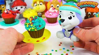 Best Learning Videos for Kids Learn Shapes with Paw Patrol Cupcakes Icing and Sprinkles Toy Movie!