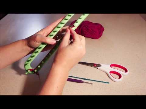 Single Stitch Scarf Tutorial using a Knifty Knitter