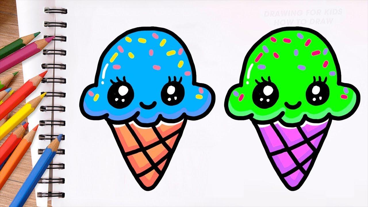 Dessin Et Coloriage Glace Pour Enfants Dessin Facile Dessin
