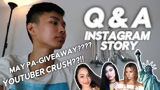 Q&A Instagram Story!  GIVEAWAY??? YOUTUBER CRUSH??!!  Mr VienPaulo